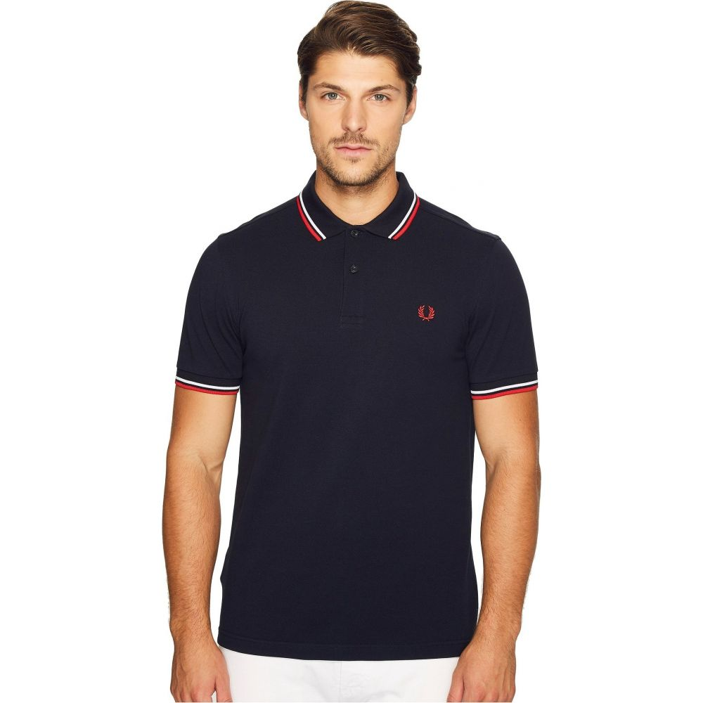 フレッドペリー Fred Perry メンズ ポロシャツ トップス【Twin Tipped Shirt】Navy/White/Red