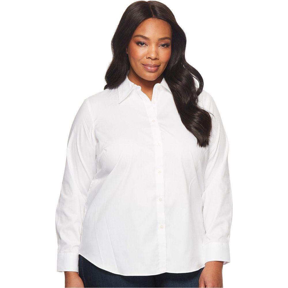 ラルフ ローレン LAUREN Ralph Lauren レディース ブラウス・シャツ 大きいサイズ トップス【Plus Size Cotton Poplin Shirt】White