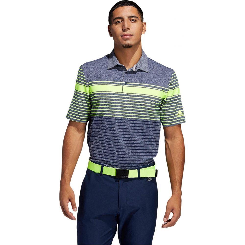 アディダス adidas Golf メンズ ポロシャツ トップス【Ultimate365 Engineered Heathered Polo Shirt】Solar Yellow/Collegiate Navy/Collegiate Navy Melange