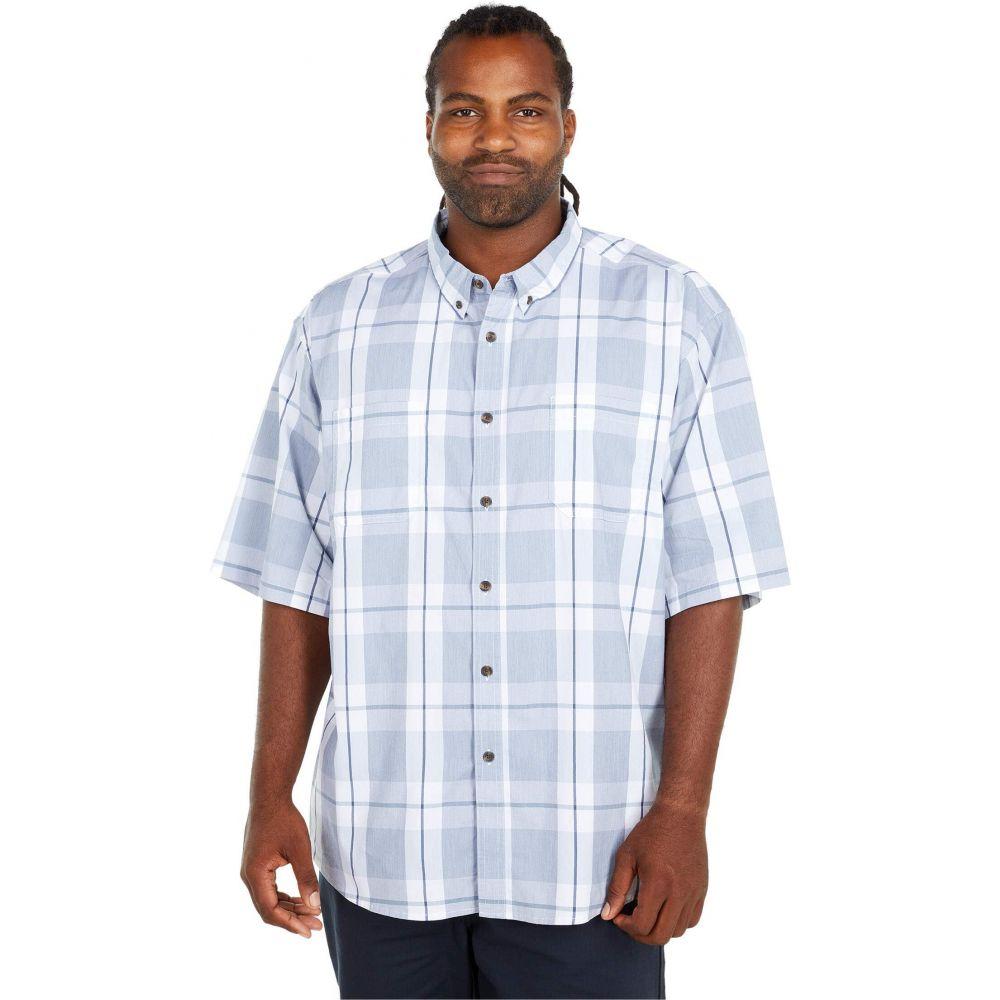 ディッキーズ Dickies メンズ 半袖シャツ 大きいサイズ トップス【Big & Tall Relaxed Fit Flex Short Sleeve Plaid Shirt】Cool Blue Navy Plaid