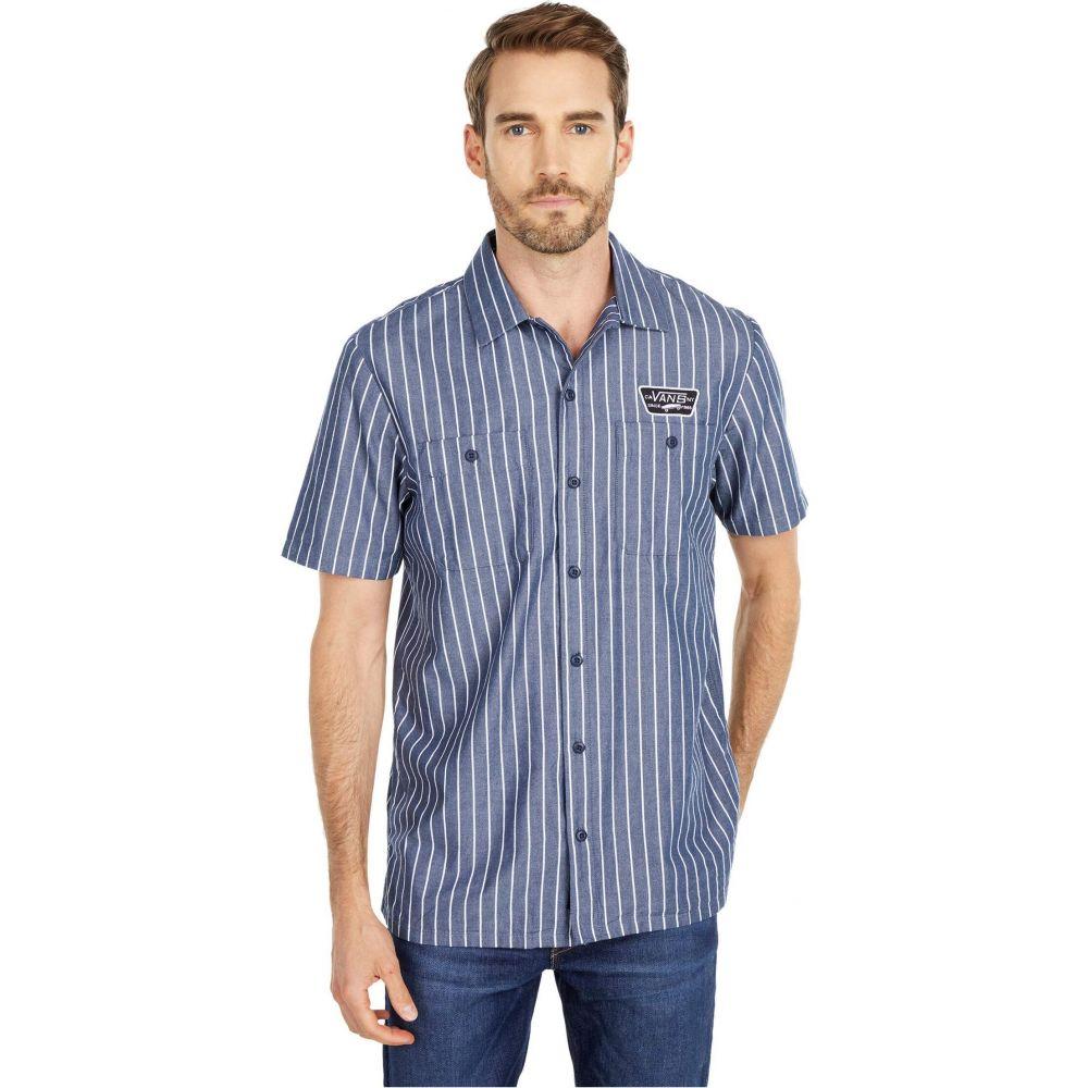 ヴァンズ Vans メンズ 半袖シャツ トップス【Coleman Short Sleeve Woven Shirt】Dress Blues Stripe