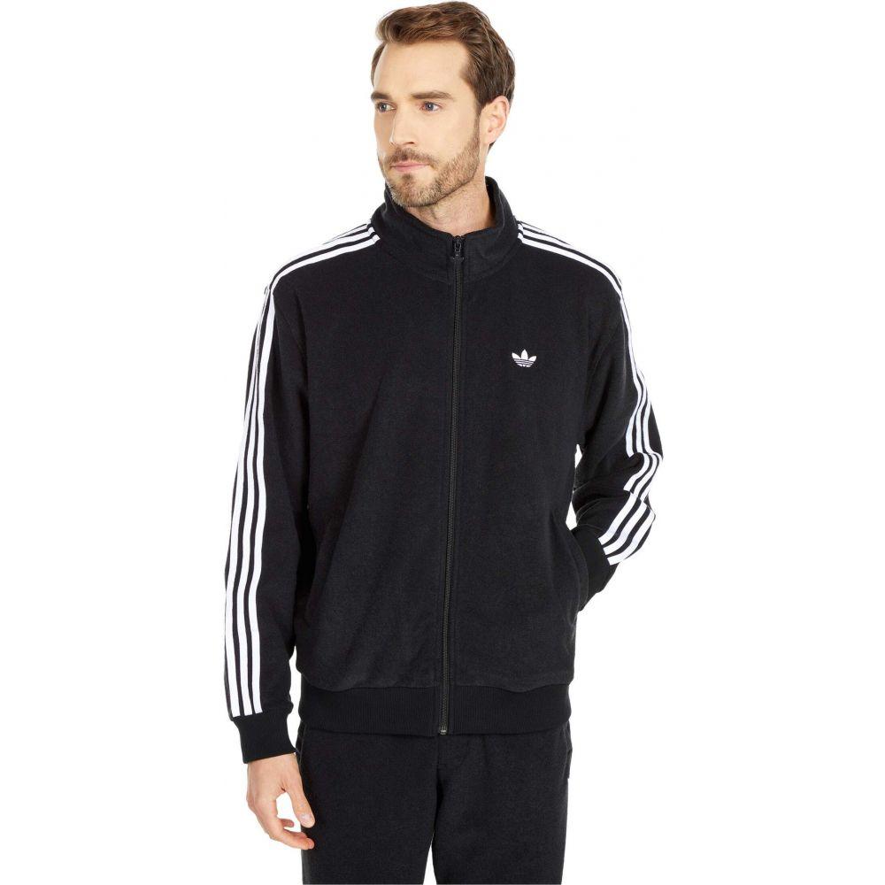 アウター【Bouclette メンズ Skateboarding アディダス adidas Jacket】Black/White ジャケット