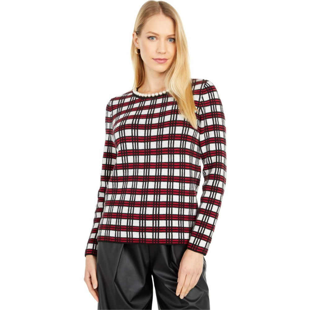 モスキーノ Boutique Moschino レディース ニット・セーター トップス【Plaid Sweater】White Multi