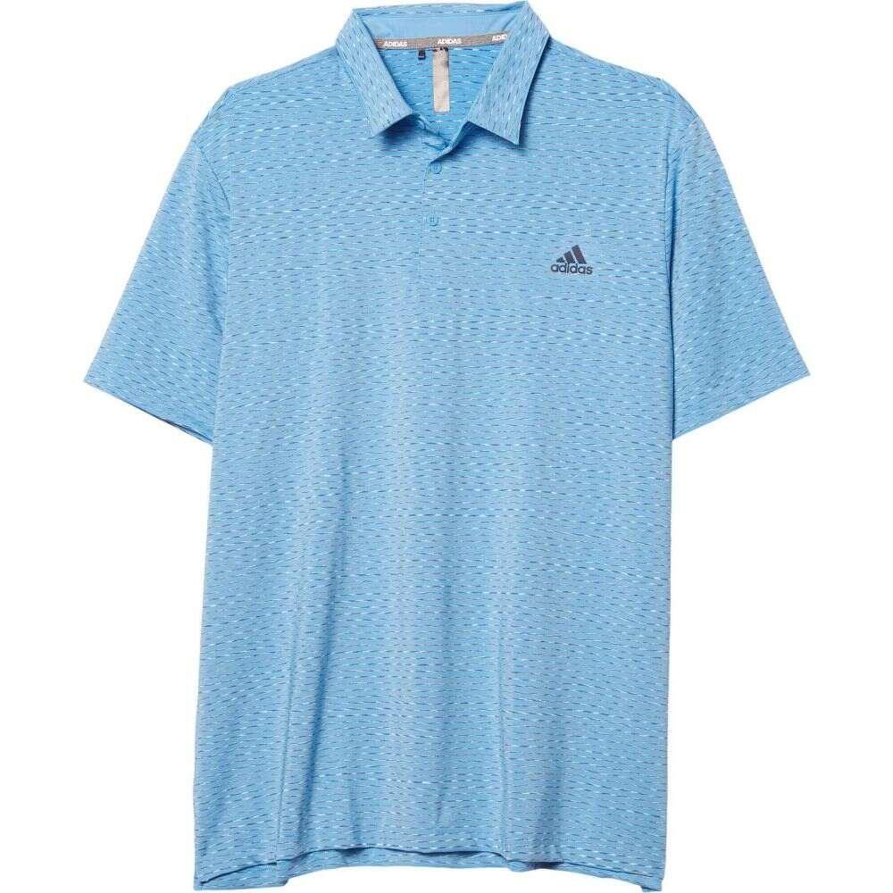 アディダス adidas Golf メンズ ポロシャツ トップス【Ultimate365 Space Dye Stripe Polo】Light Blue/Collegiate Navy/White