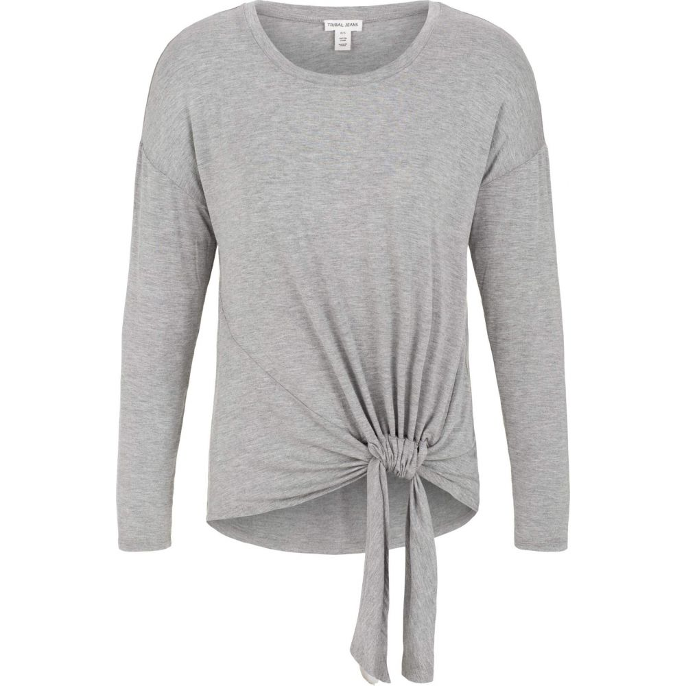 トリバル Tribal レディース トップス 【Long Sleeve Top w/ Adjustable Knot】Grey Mix