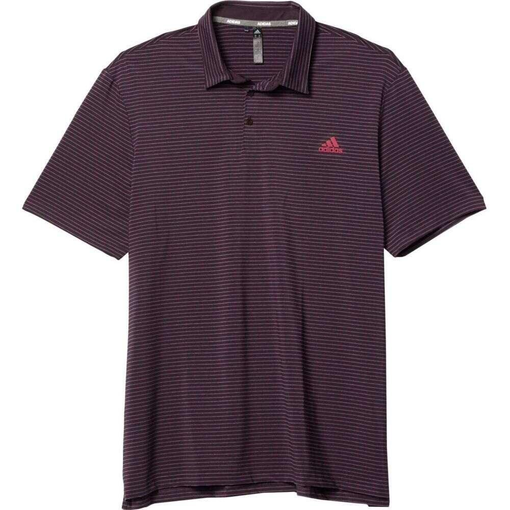 アディダス adidas Golf メンズ ポロシャツ トップス【Ultimate365 Space Dye Stripe Polo】Noble Purple/Power Berry/Legacy Blue