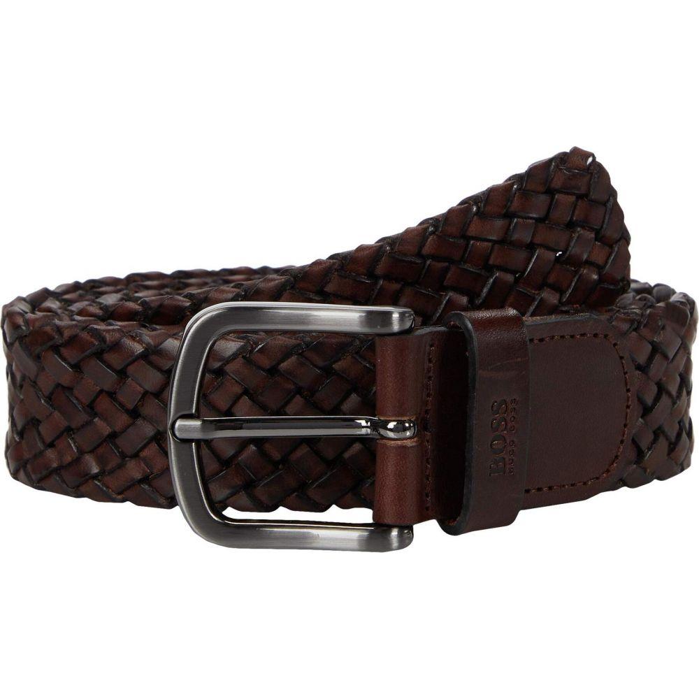 ヒューゴ ボス BOSS Hugo Boss メンズ ベルト 【Sash Woven Leather Belt by BOSS】Brown