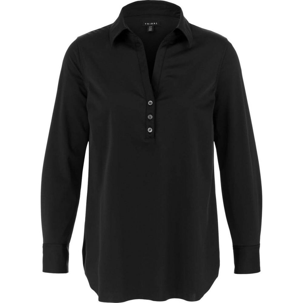 トリバル Tribal レディース チュニック トップス【Long Sleeve Wrinkle Resistant Tunic】Black
