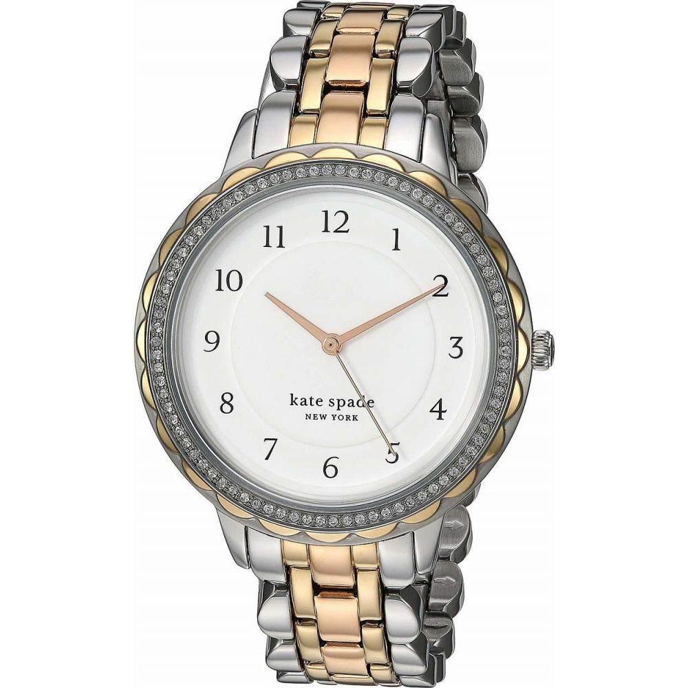 ケイト スペード Kate Spade New York レディース 腕時計 【Morningside Stainless Steel Watch - KSW1571】Tri-Tone Silver/Gold/Rose Gold