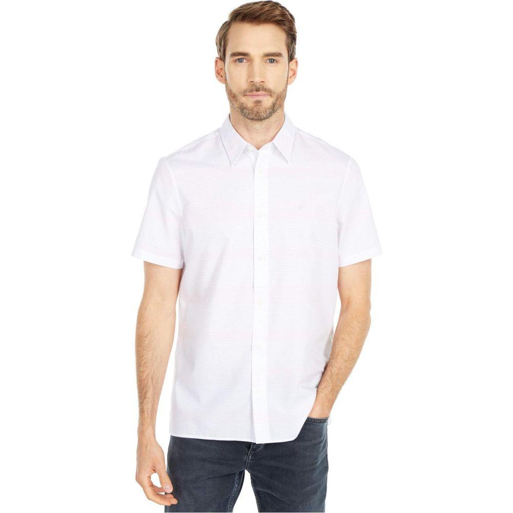 カルバンクライン Calvin Klein メンズ 半袖シャツ トップス【Short Sleeve Stretch Cotton Button-Down Shirt】Strawberry Ash