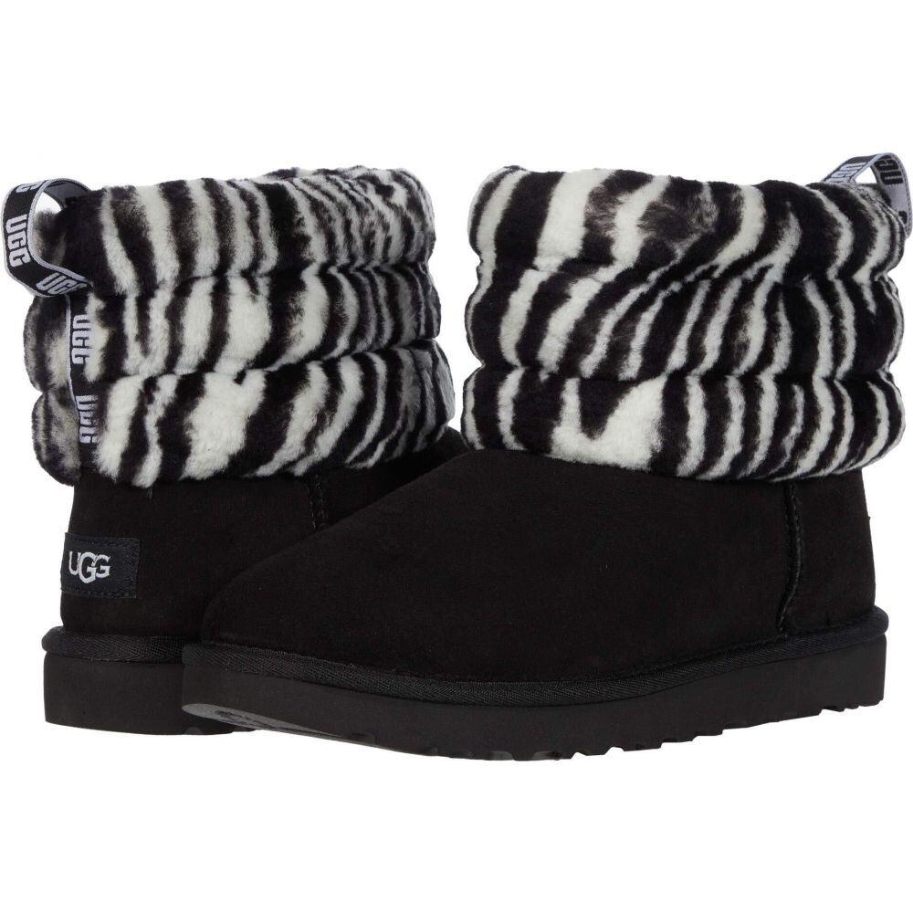 アグ UGG レディース シューズ・靴 【Fluff Mini Quilted】Black/White