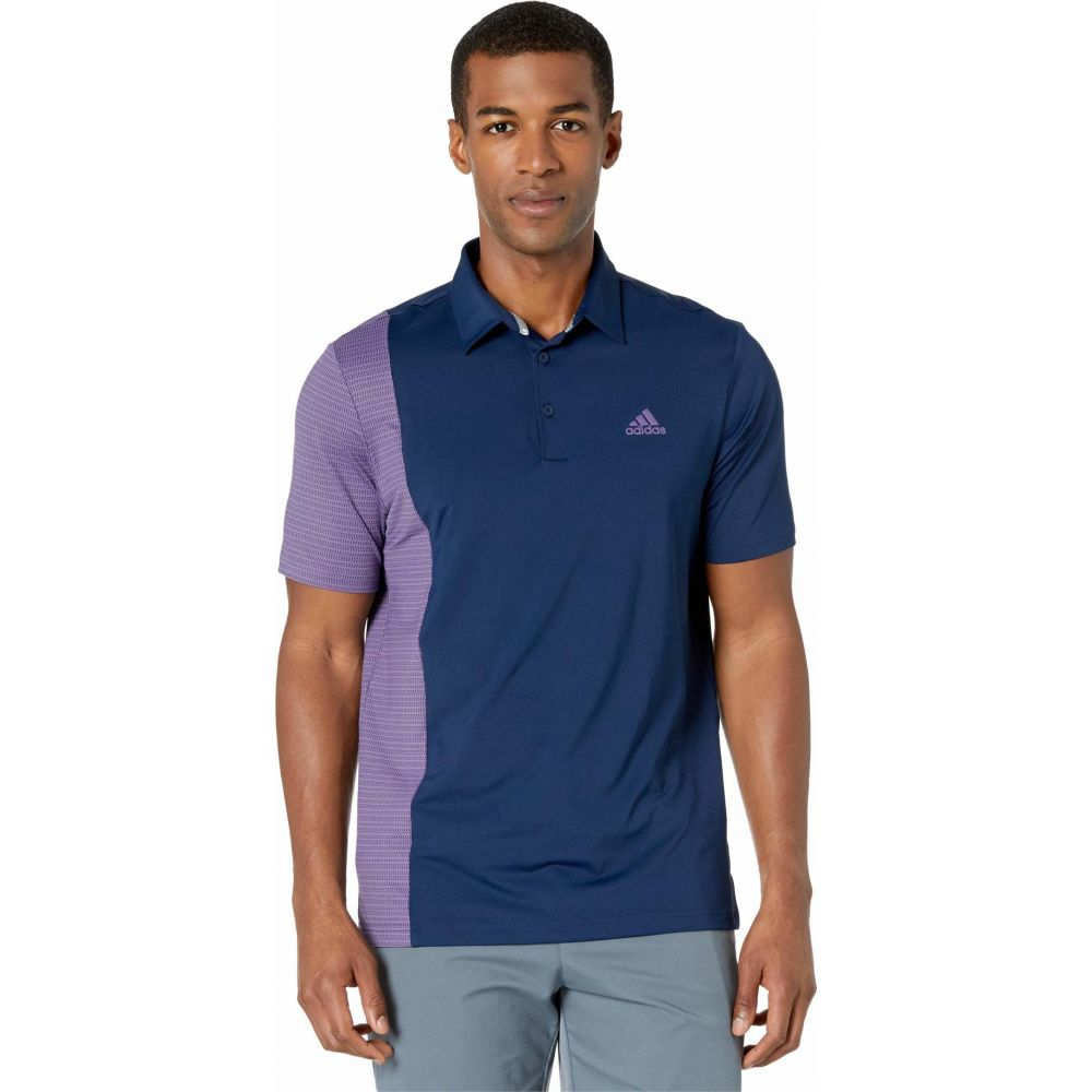 アディダス adidas Golf メンズ ポロシャツ トップス【Ultimate365 Blocked Print Polo Shirt】Collegiate Navy/Tech Purple/Collegiate Navy