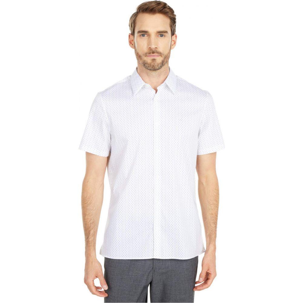 カルバンクライン Calvin Klein メンズ 半袖シャツ トップス【Short Sleeve Stretch Cotton Button-Down Shirt】Brilliant White