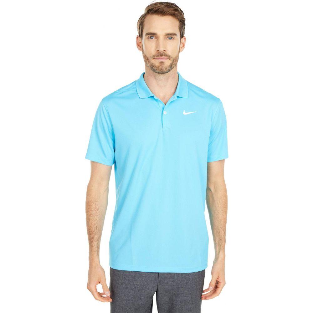 ナイキ Nike Golf メンズ ポロシャツ トップス【Dry Victory Polo Solid】Blue Fury/White