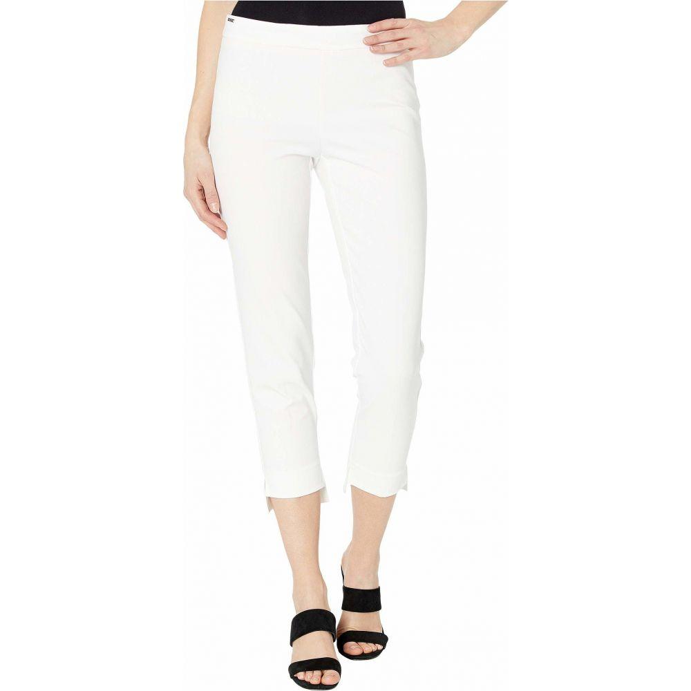 リゼッタ Lisette L Montreal レディース クロップド ボトムス・パンツ【Mila Stretch Fabric Pull-On Step Hem Crop Pants】White