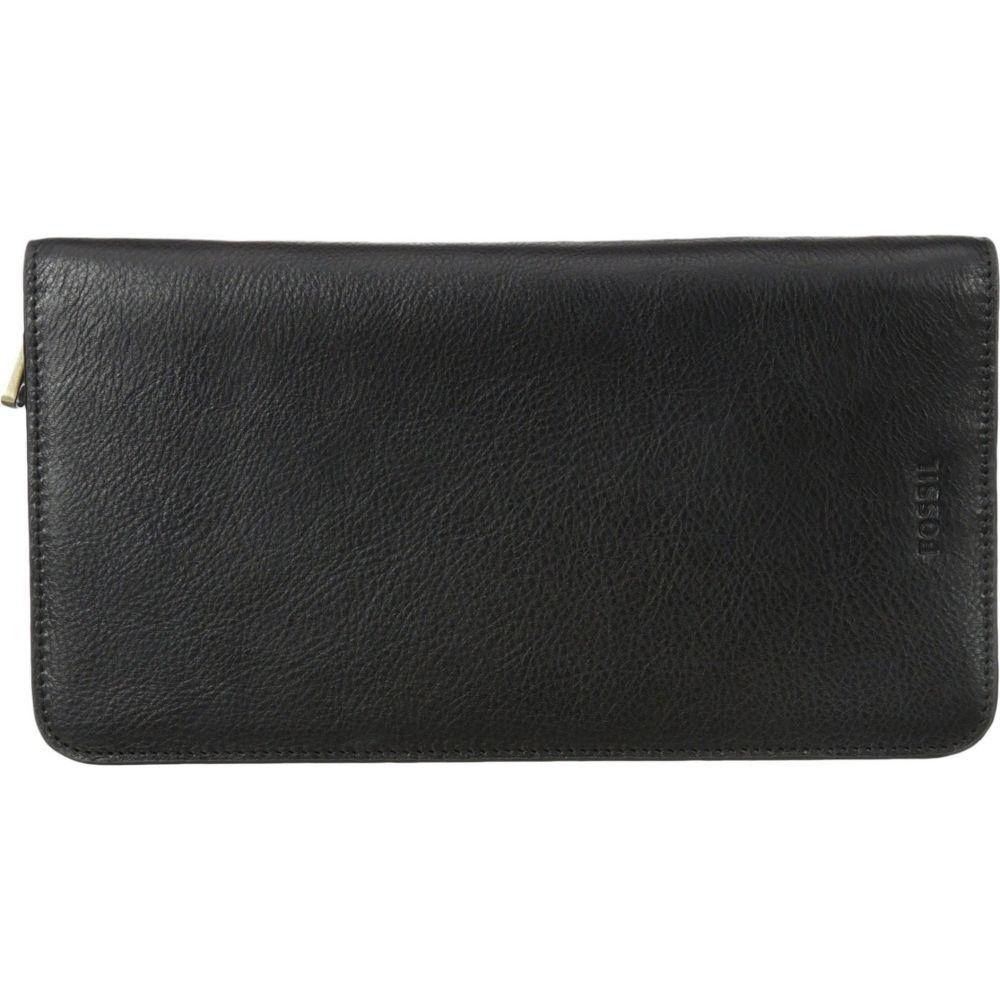 フォッシル Fossil メンズ パスポートケース 【Multi-Zip Passport Case】Black