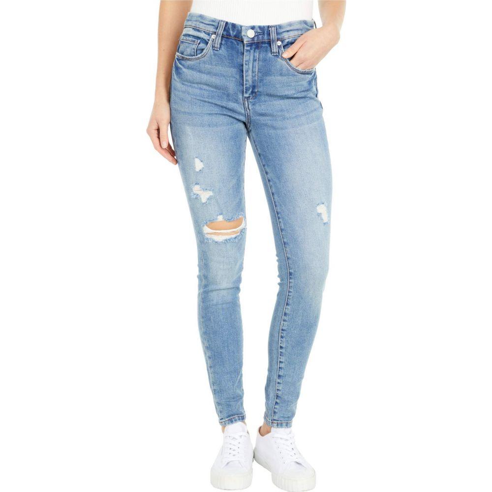 ブランクニューヨーク Blank NYC レディース ジーンズ・デニム ボトムス・パンツ【Denim Blue Five-Pocket High-Rise Skinny Jeans with Slight Destruction in You're Welcome】You're Welcome