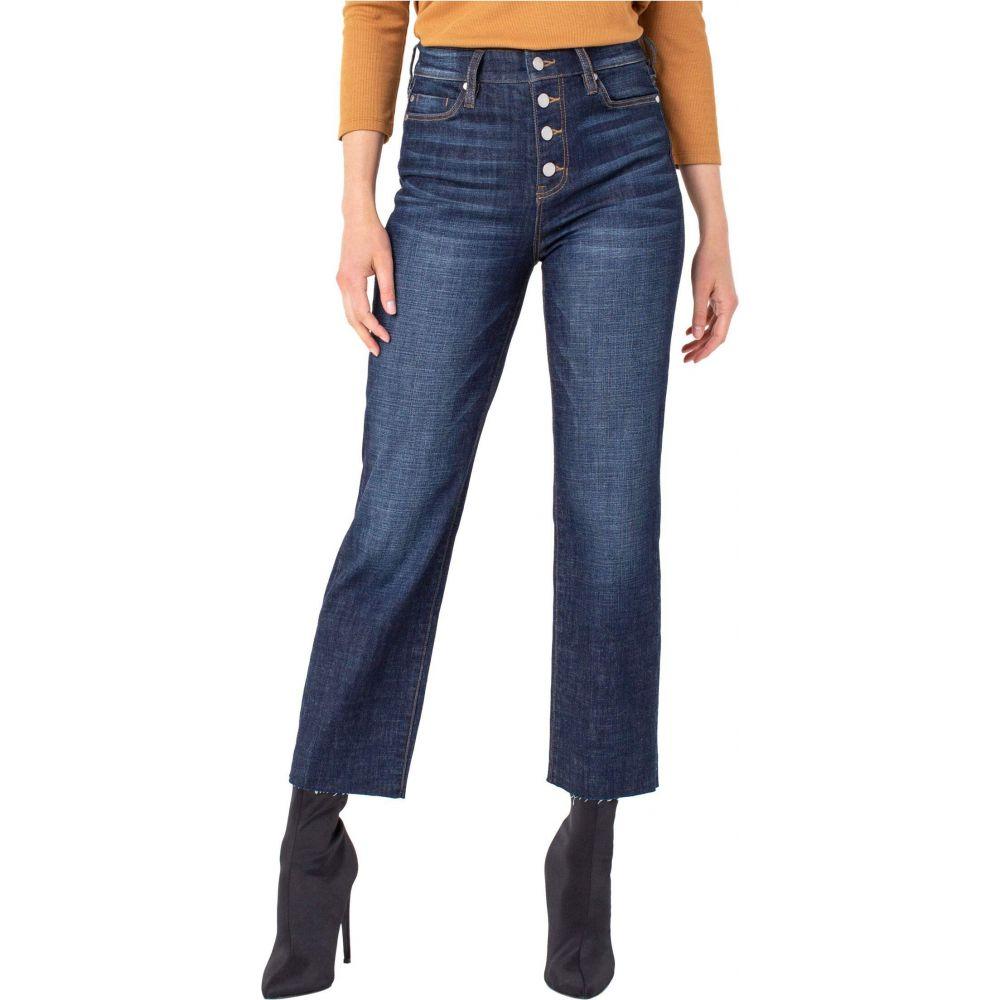 リバプール Liverpool レディース ジーンズ・デニム ボトムス・パンツ【Button Front Crop Straight Jeans with Cut Hem in Gleason】Gleason