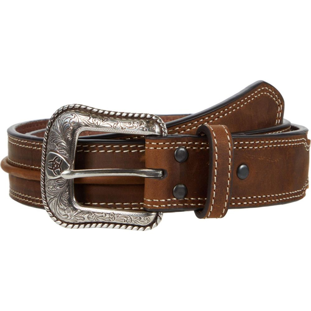 アリアト Ariat メンズ ベルト 【Center Bump Belt】Medium Brown