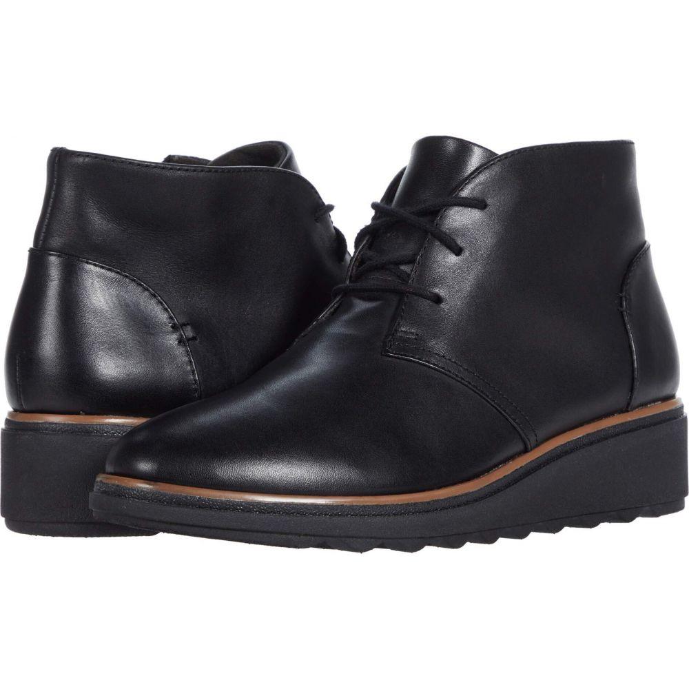 クラークス Clarks レディース シューズ・靴 【Sharon Hop】Black Leather