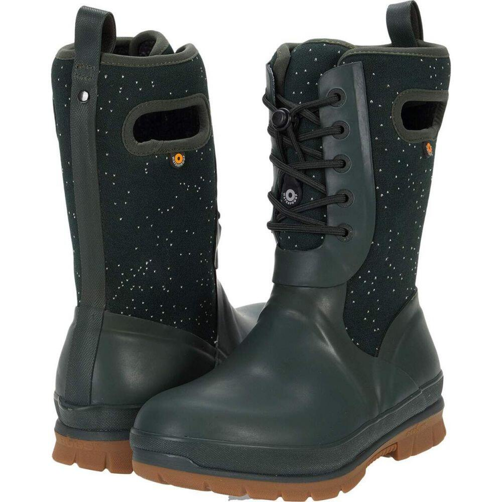 ボグス Bogs レディース シューズ・靴 【Crandall Lace Speckle】Dark Green