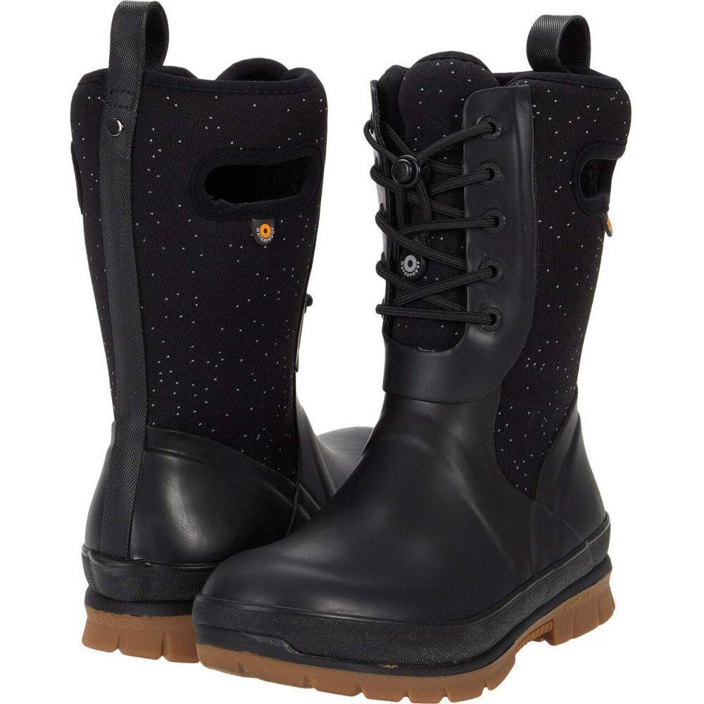 ボグス Bogs レディース シューズ・靴 【Crandall Lace Speckle】Black
