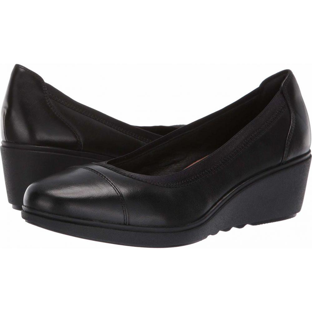 クラークス Clarks レディース シューズ・靴 【Un Tallara Liz】Black Leather