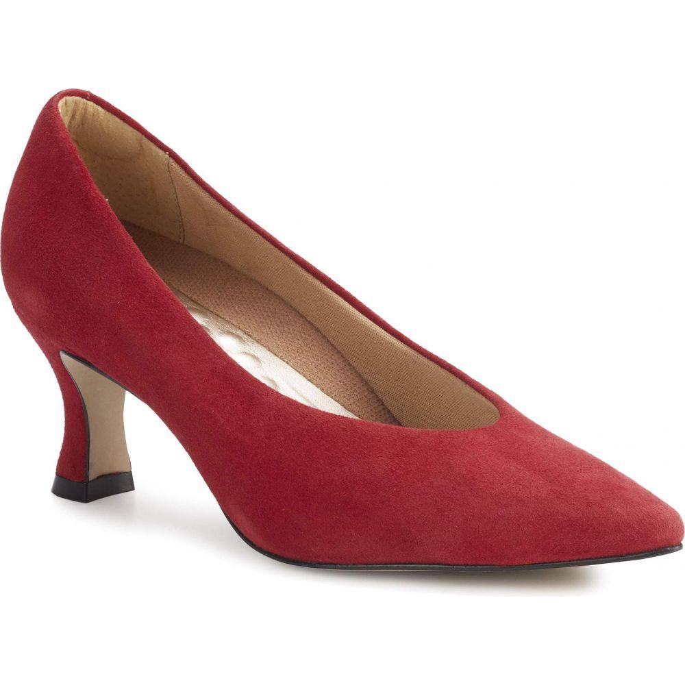 ウォーキング クレードル Walking Cradles レディース シューズ・靴 【Sasha】Red Suede