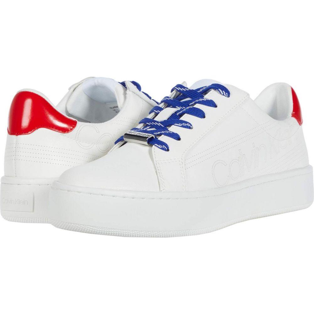 カルバンクライン Calvin Klein レディース シューズ・靴 【Clarine】White/Process Red