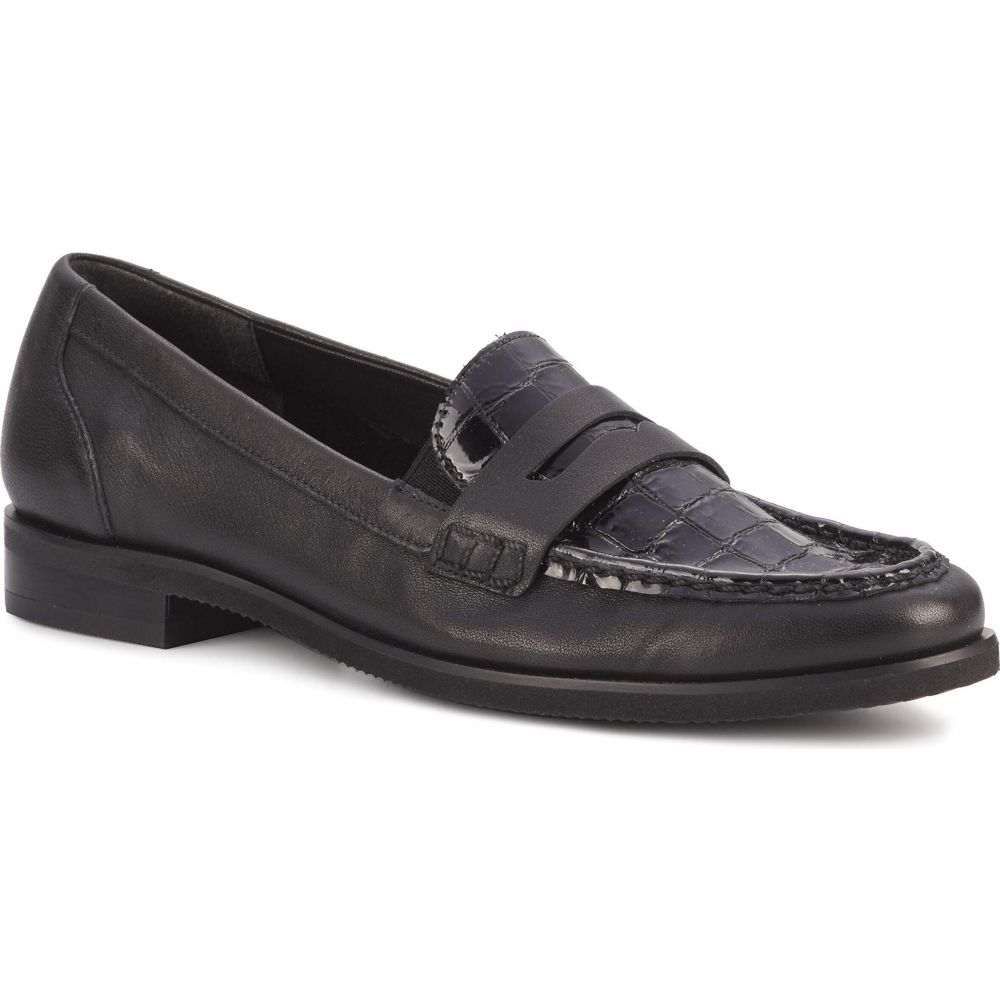 ウォーキング クレードル Walking Cradles レディース シューズ・靴 【Winnie】Black River Nappa/Croco Patent