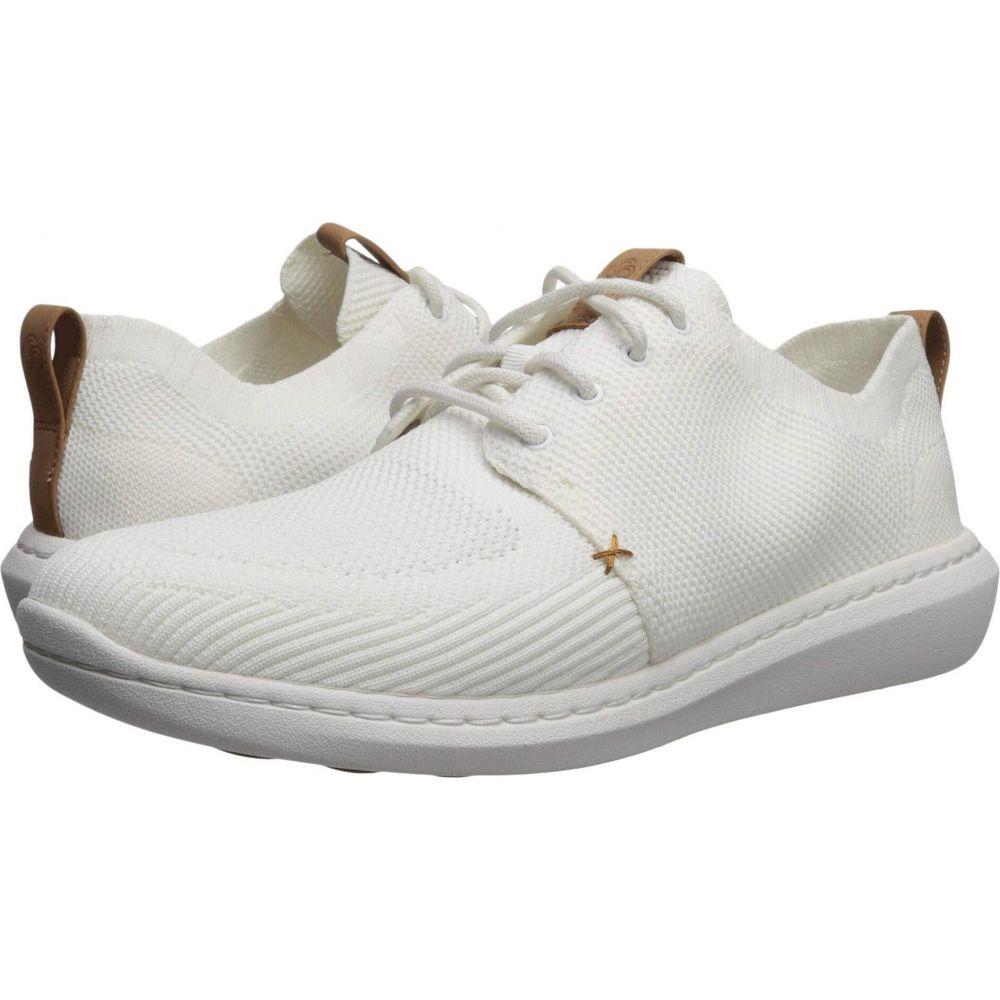 クラークス Clarks メンズ シューズ・靴 【Step Urban Mix】White Textile Knit
