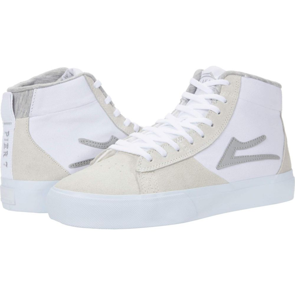 ラカイ Lakai メンズ シューズ・靴 【Newport Hi】White/Grey Suede