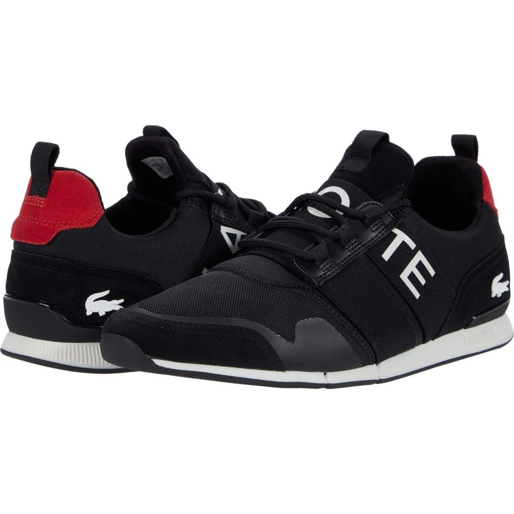 ラコステ Lacoste メンズ シューズ・靴 【Menerva Elite 0120 1】Black/Red