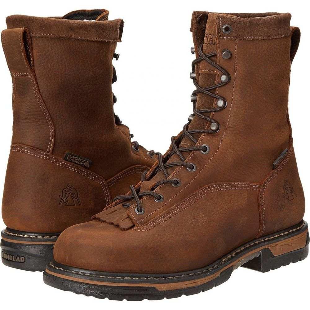 ロッキー Rocky メンズ シューズ・靴 【8' Ironclad Soft Toe WP】Brown