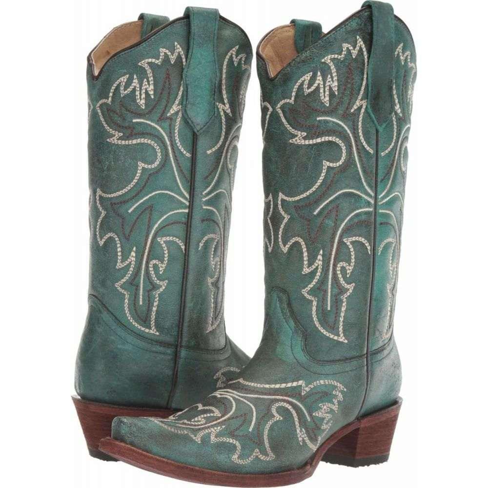 コラル Corral Boots レディース シューズ・靴 【L5560】Turquoise/White