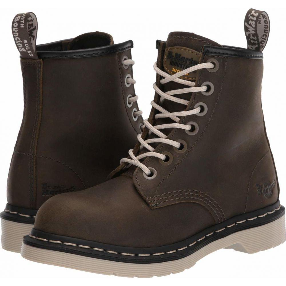 ドクターマーチン Dr. Martens Work レディース シューズ・靴 【Maple Zipper Steel Toe】Olive Wyoming