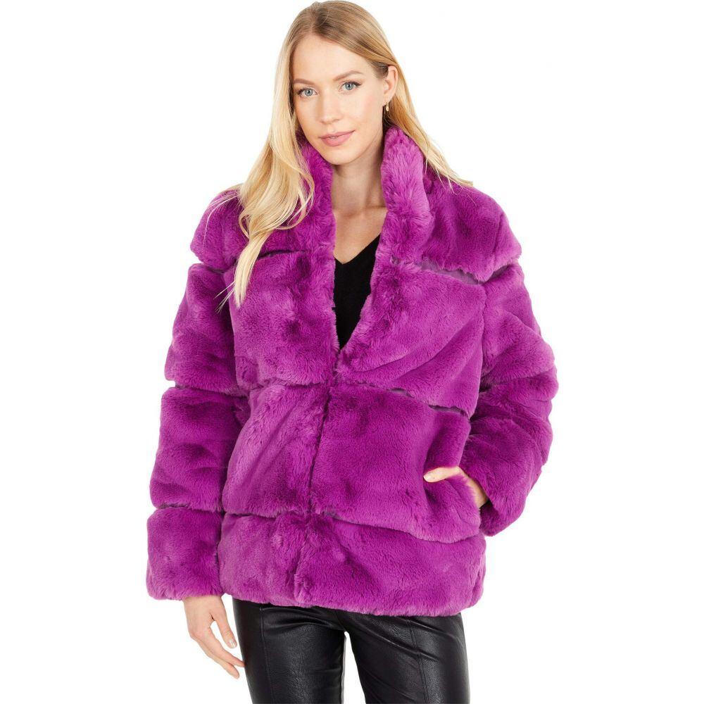 アパリス APPARIS レディース コート ファーコート アウター【Sarah 2 Faux Fur Coat】Purple Clover