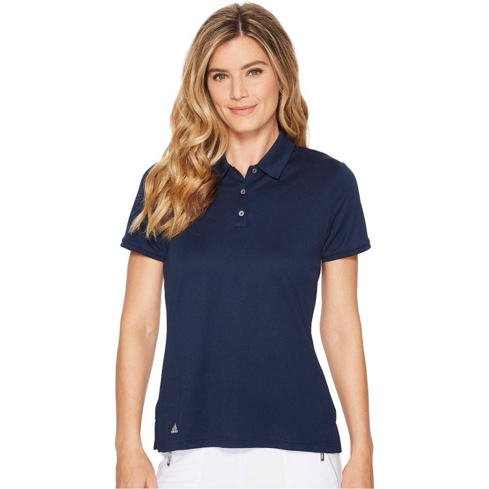アディダス レディース トップス ポロシャツ 新作多数 Collegiate Navy サイズ交換無料 Polo adidas Sleeve Performance トレンド 半袖 Golf Short