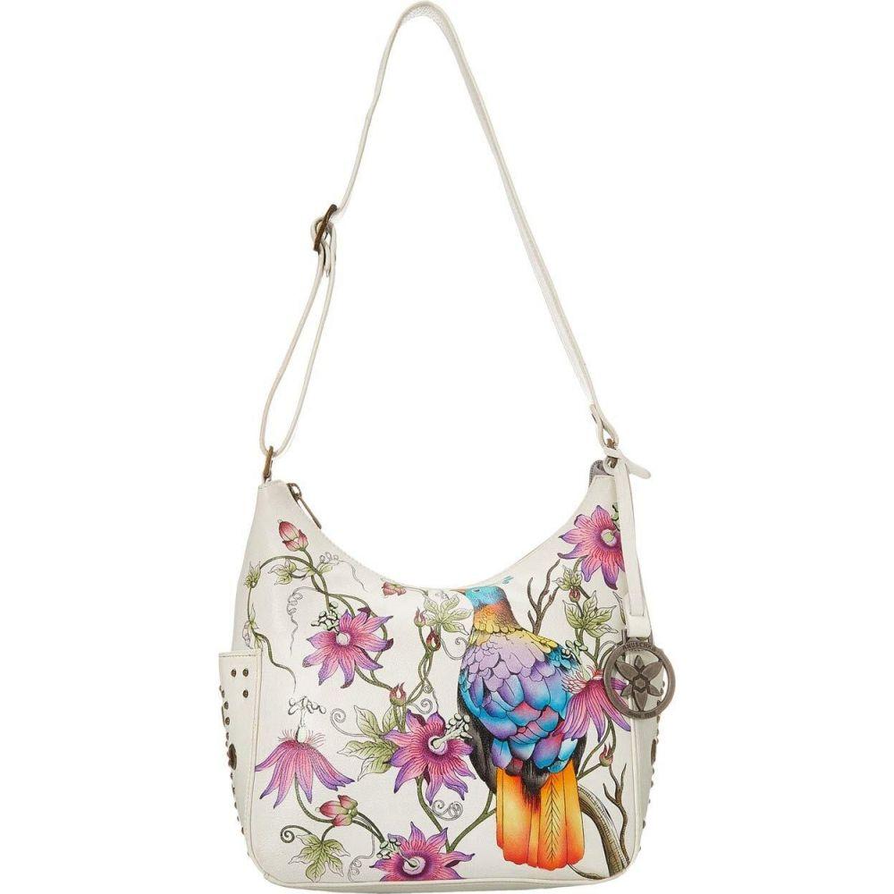 アヌシュカ Anuschka Handbags レディース ショルダーバッグ バッグ【433 Classic Hobo With Studded Side Pockets】Himalayan Bird