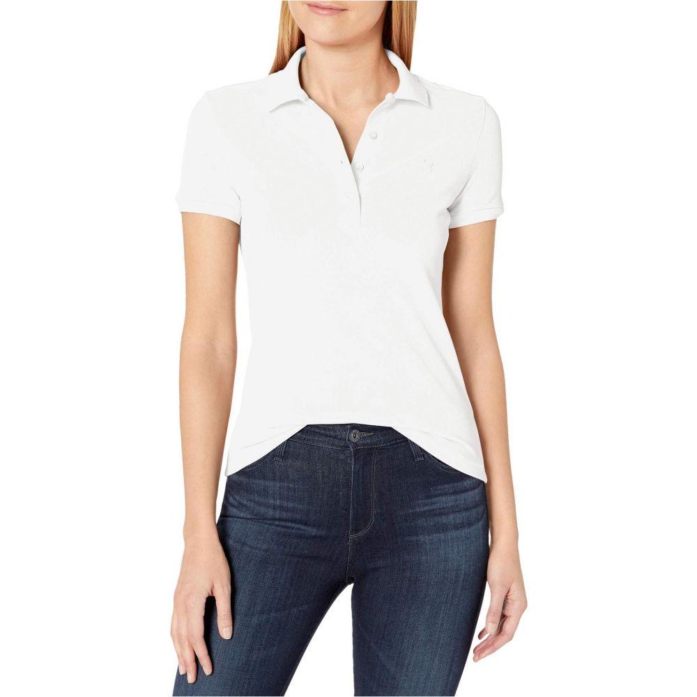 ラコステ Lacoste レディース ポロシャツ 半袖 トップス【Short Sleeve Slim Fit Stretch Pique Polo】White
