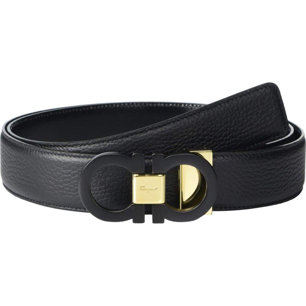 サルヴァトーレ フェラガモ メンズ ファッション小物 ベルト Black 大決算セール サイズ交換無料 Reversible Adjustable - Ferragamo 679941 Belt Salvatore 超目玉