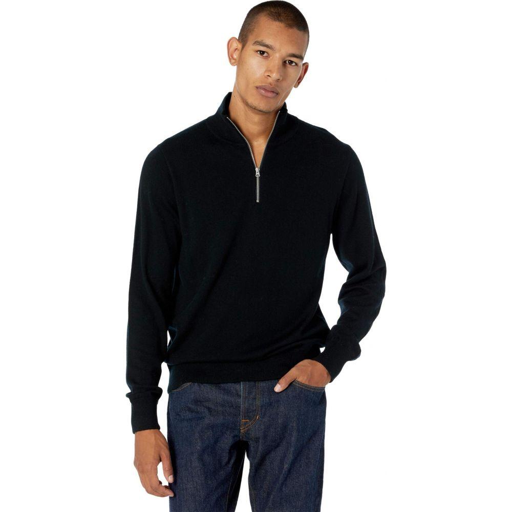 ジェイクルー メンズ トップス ニット セーター Black サイズ交換無料 Sweater 店 定番 Washable Merino J.Crew Half-Zip Wool