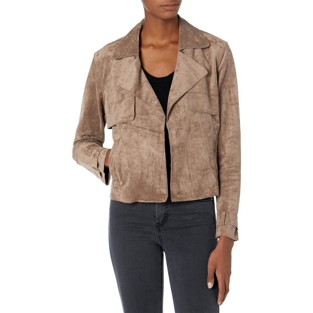 Blank Open Jacket】Seal アウター【Faux The Suede ブランクニューヨーク Cropped レディース Trench NYC レザージャケット Deal