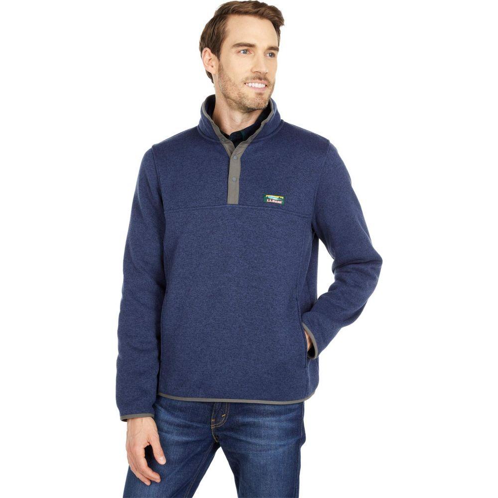 卸直営 エルエルビーン メンズ トップス フリース Bright Navy L.L.Bean Fleece Pullover 超定番 サイズ交換無料 Sweater