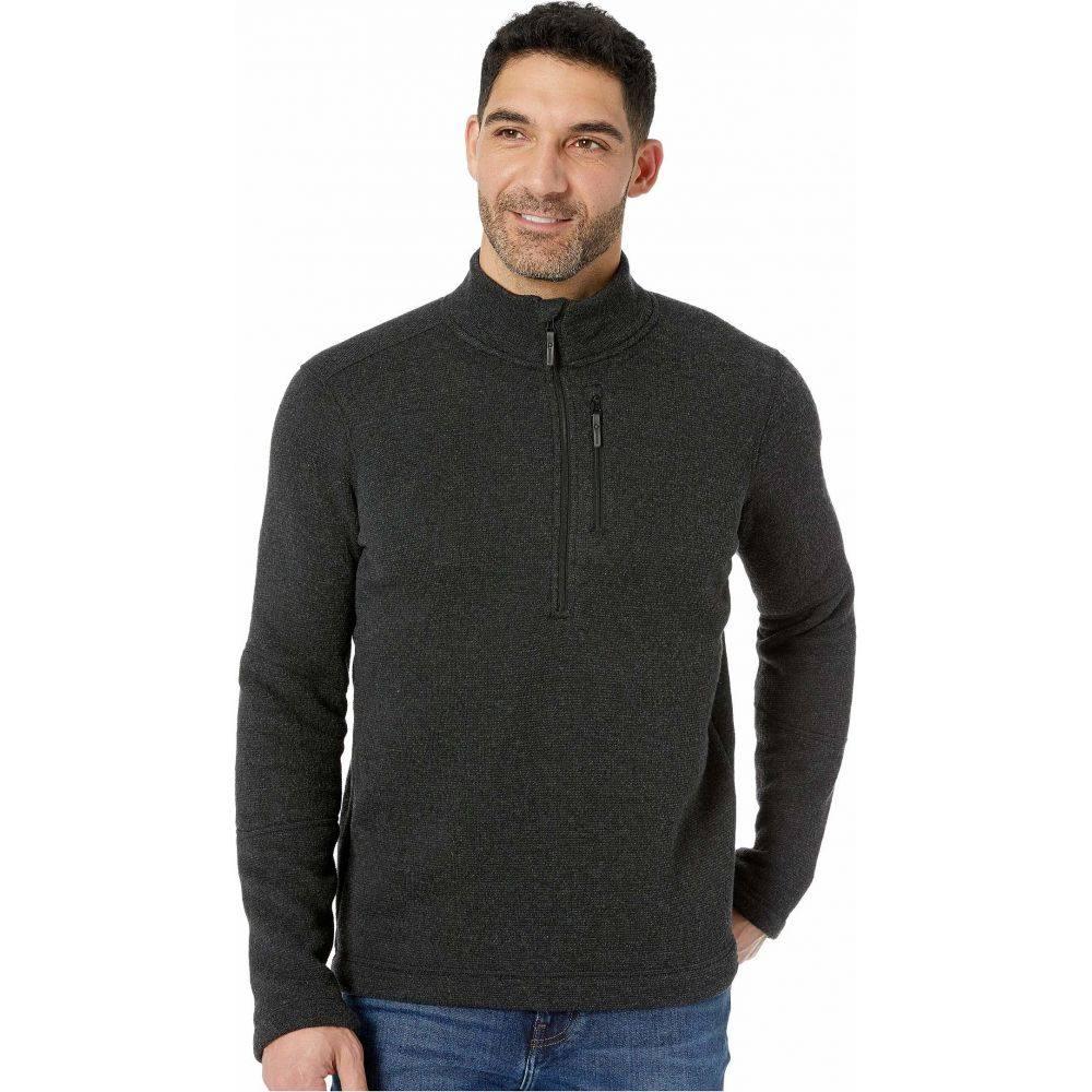 スマートウール メンズ トップス フリース Dark Charcoal 年間定番 サイズ交換無料 2020A/W新作送料無料 Smartwool Sweater Hudson 2 1 Trail Fleece ハーフジップ Zip