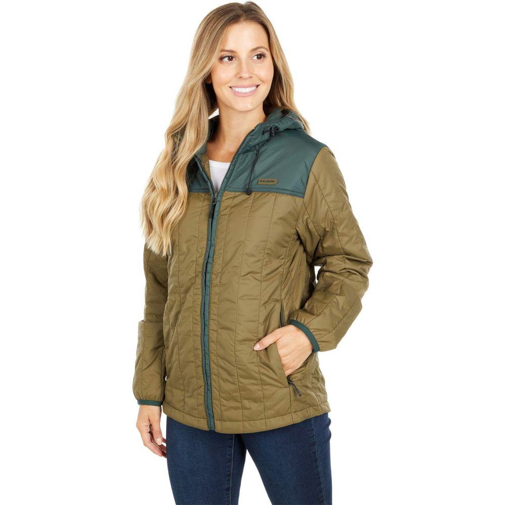 フィルソン Filson レディース ジャケット フード アウター【Ultralight Hooded Jacket】Dark Olive/Dark Spruce
