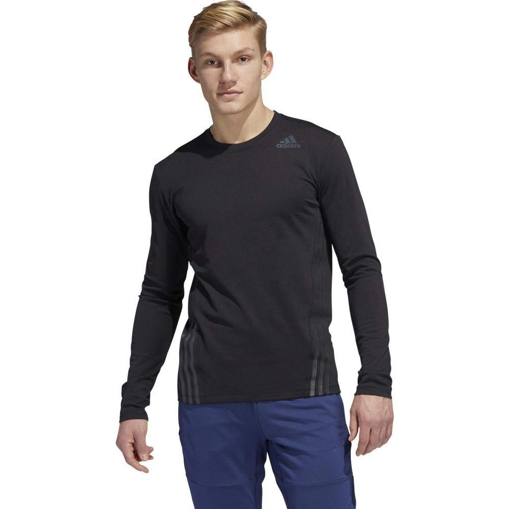 アディダス adidas メンズ 長袖Tシャツ トップス【Aero 3-Stripes Cold Weather Long Sleeve Tee】Black:フェルマート