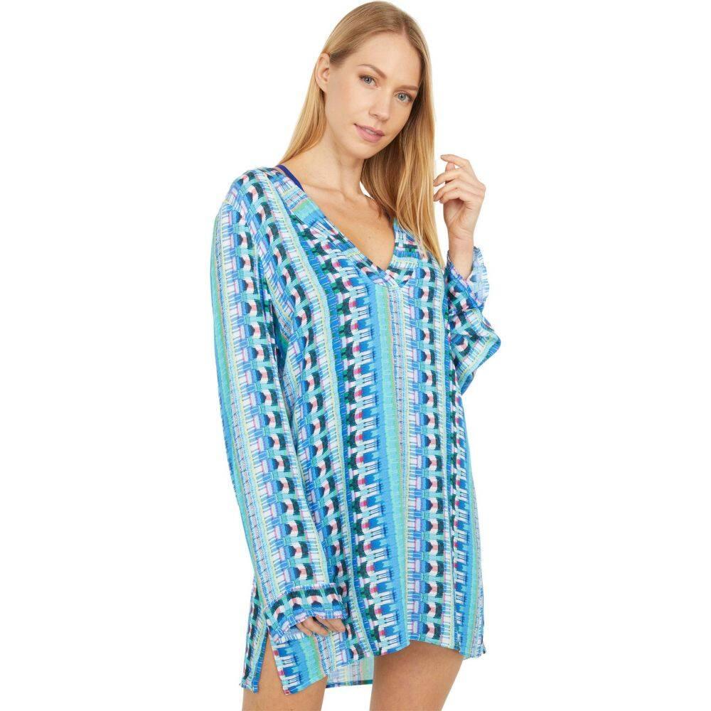 Tunic Multi Blanca Dress】Poolside レディース V-Neck チュニックドレス ラブランカ La Vネック ビーチウェア Cover-Up 水着・ビーチウェア【Global Jive