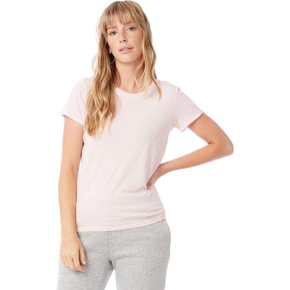 オルタナティヴ レディース トップス 送料込 Tシャツ Faded Pink Pigment Vintage Tee Jersey Alternative 入荷予定 サイズ交換無料 Distressed Cotton