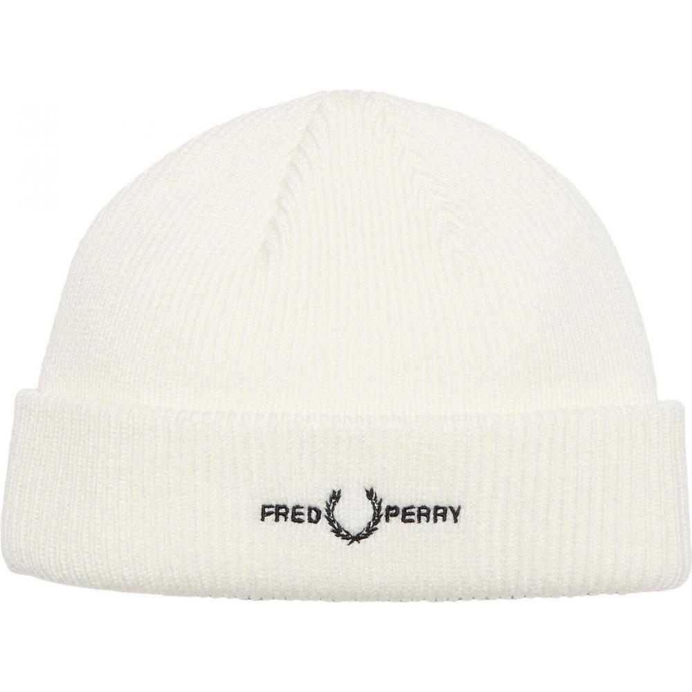 フレッドペリー メンズ 帽子 ニット Snow White サイズ交換無料 OUTLET SALE Beanie Fred Perry 全品最安値に挑戦 ビーニー Branded Graphic